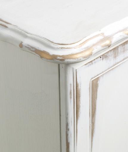 METALLIC OBERFLÄCHE MÖBELLACK - Antique White & Gold Sideboard