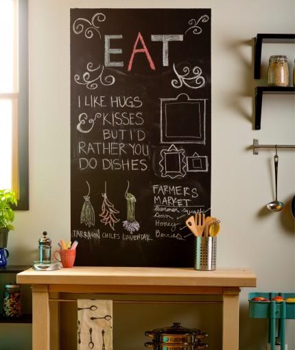 SCHULTAFELLACK (LACKDOSE) - chalkboard-kitchen-wall-430x510