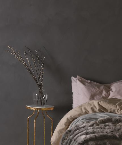 Wandfarbe Kalkstein-Effekt