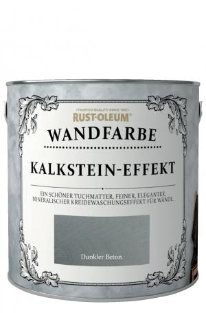 Rust-Oleum Kalkstein-Effekt Wandfarbe dunkler Beton