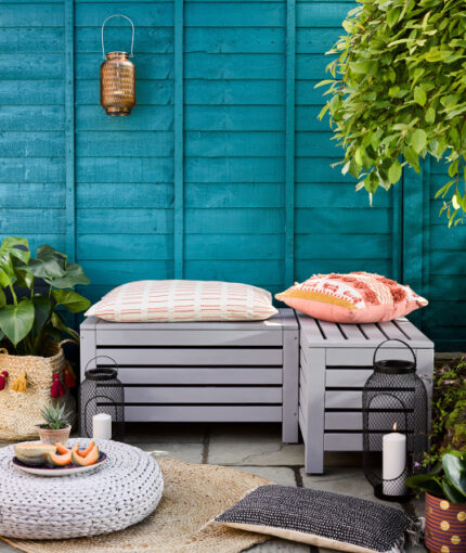 Kreidefarbe Gartenmöbellack - Kreidefarbe für Gartenmöbel Sitzbank Anthrazit