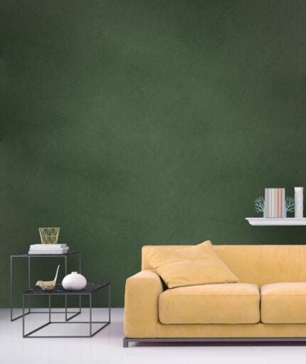 Wandfarbe Kalkstein-Effekt - Wandfarbe Kalkstein Effekt Grüngrau