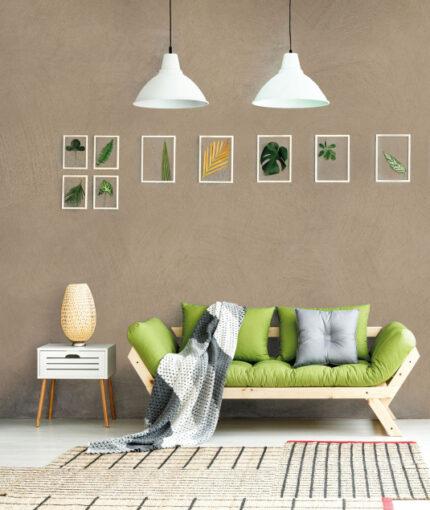 Wandfarbe Kalkstein-Effekt - Wandfarbe Kalkstein Effekt Taupe