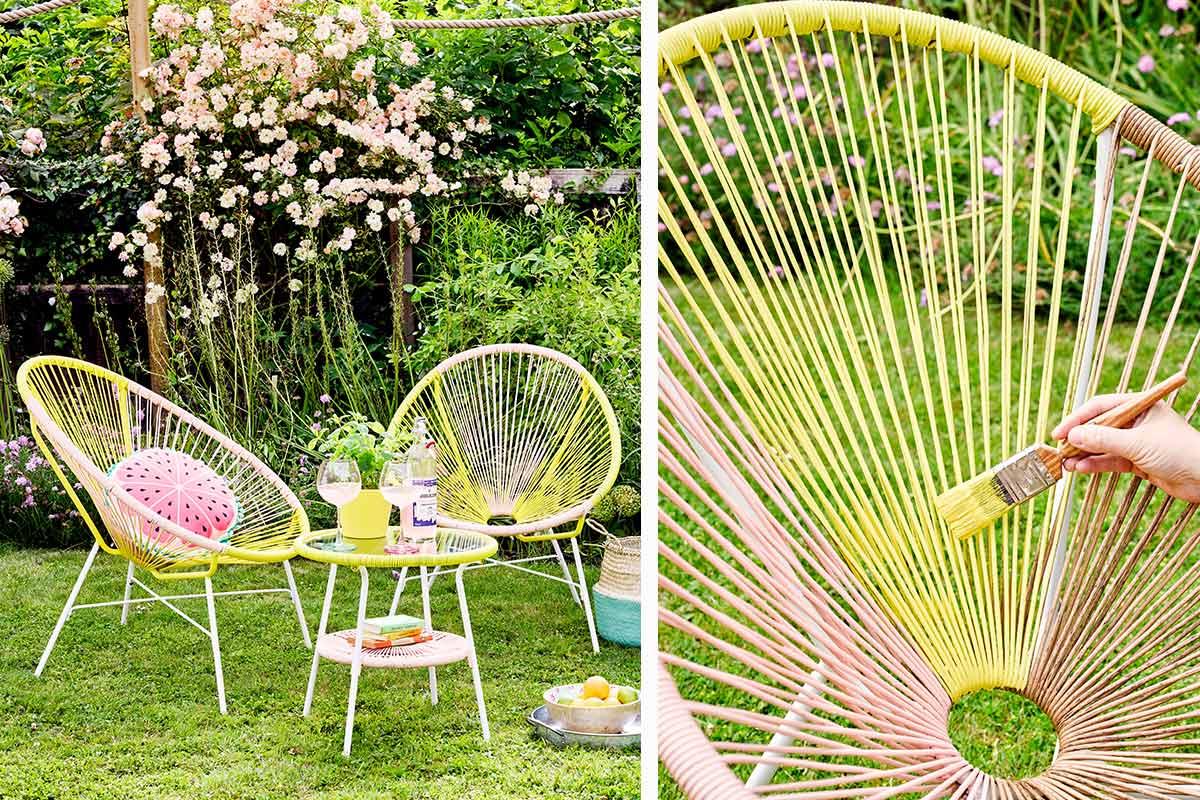 Gartenmöbel im neuen Look Schnell & einfach selber