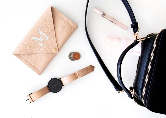 Do it yourself: Brieftasche mit Monogramm