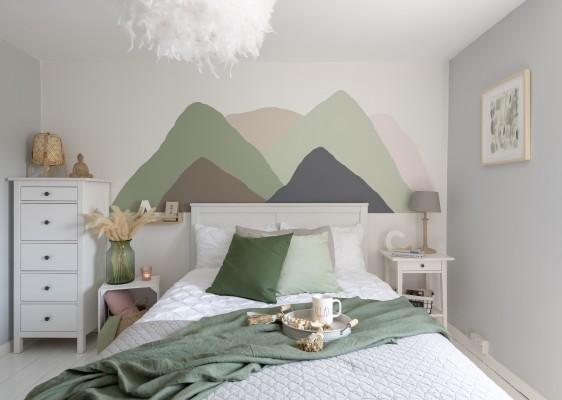 Wandgemälde: Berglandschaft
