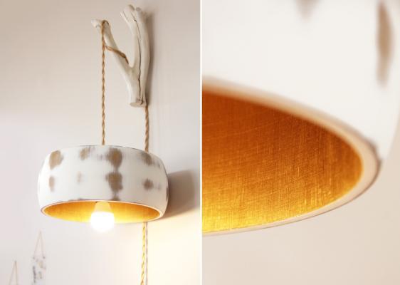 DIY: Holzlampenschirm im Shabby Chic
